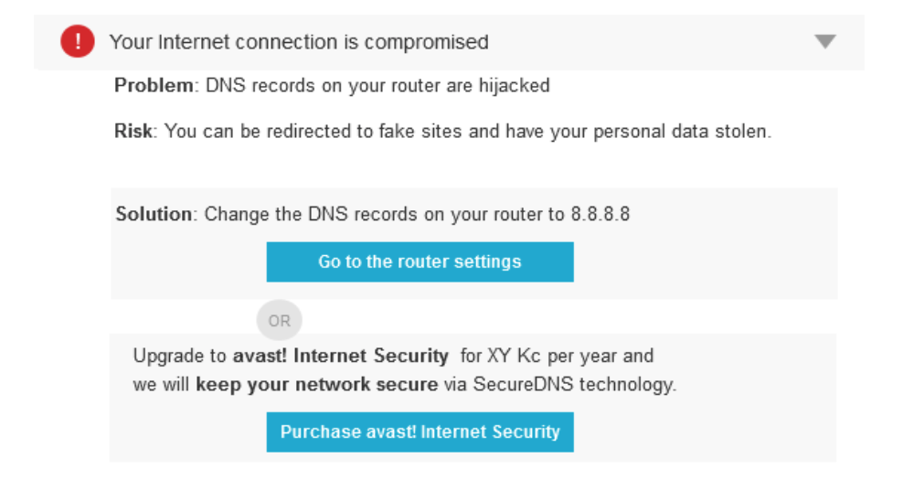 Avast Router Settings