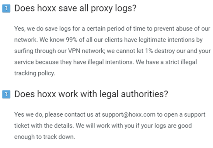 Hoxx VPN Privacy